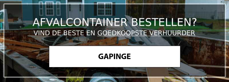 afvalcontainer gapinge
