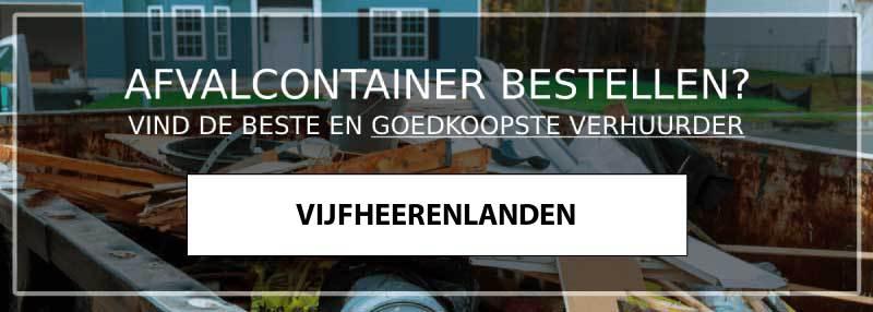 afvalcontainer vijfheerenlanden